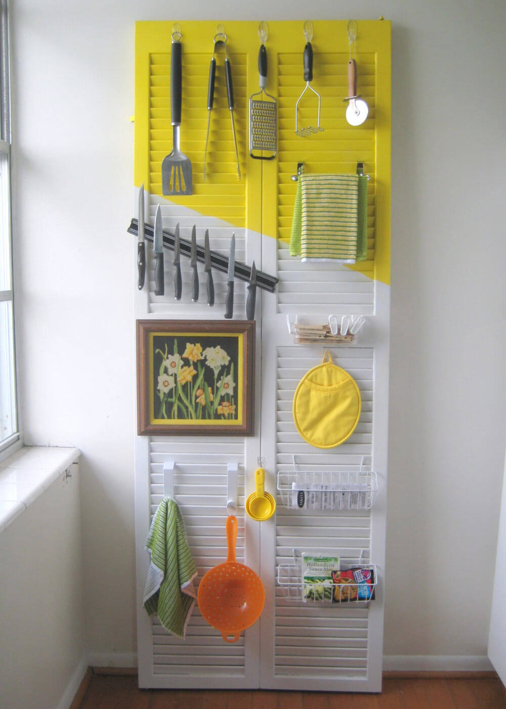 Window Shutter Kitchen Organisers