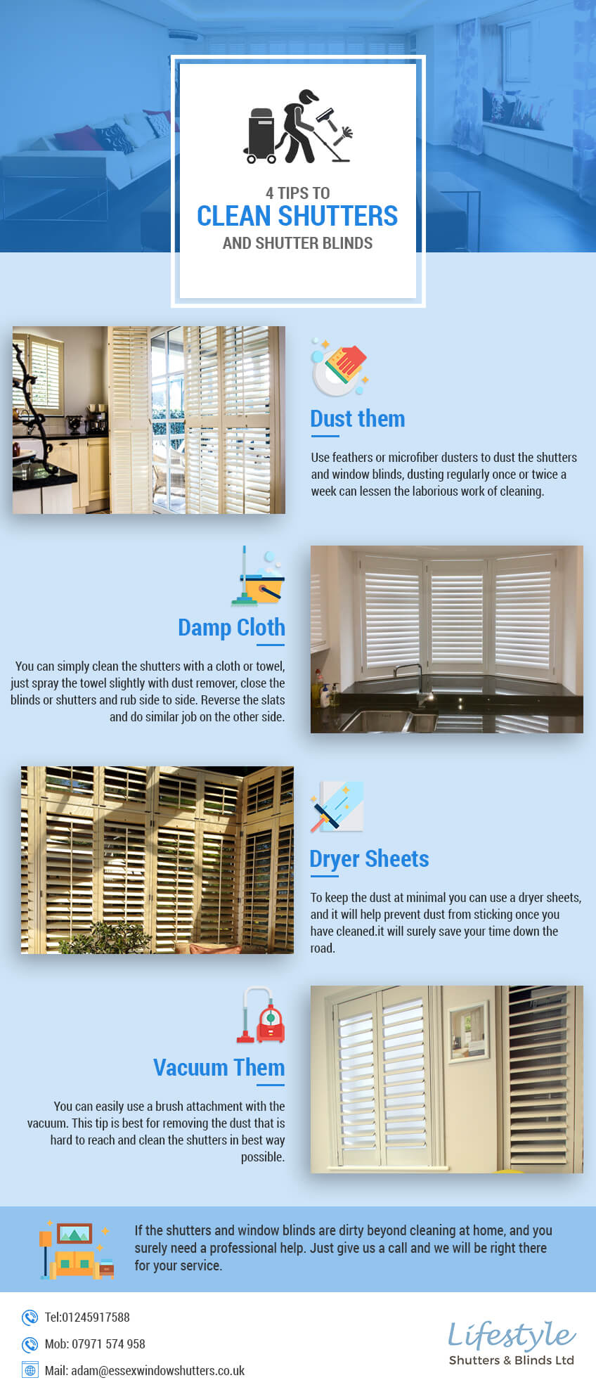 tips to clean shutters