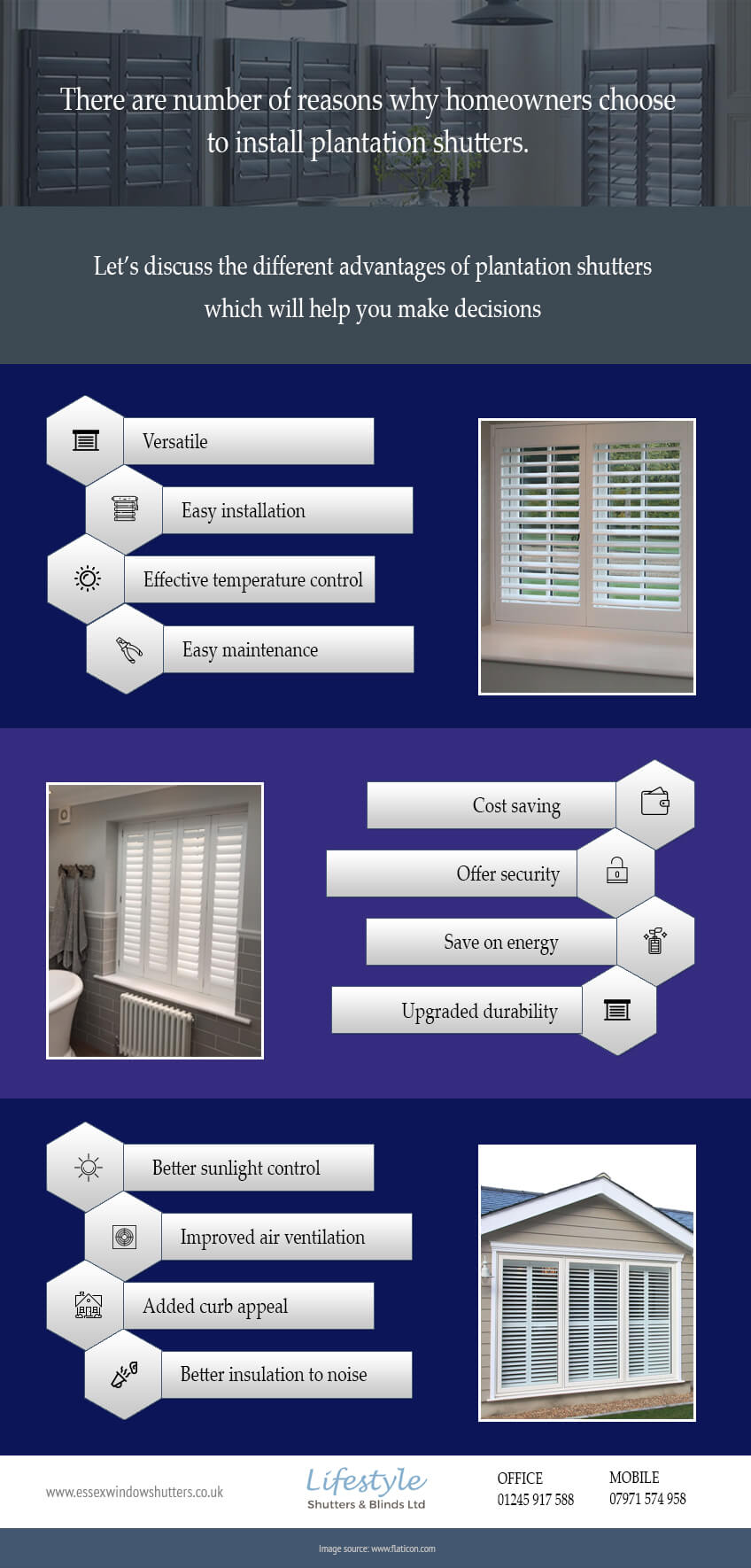 Benefits of plantation shutters