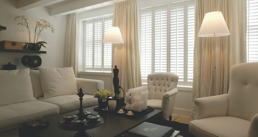 curtains and window shutters