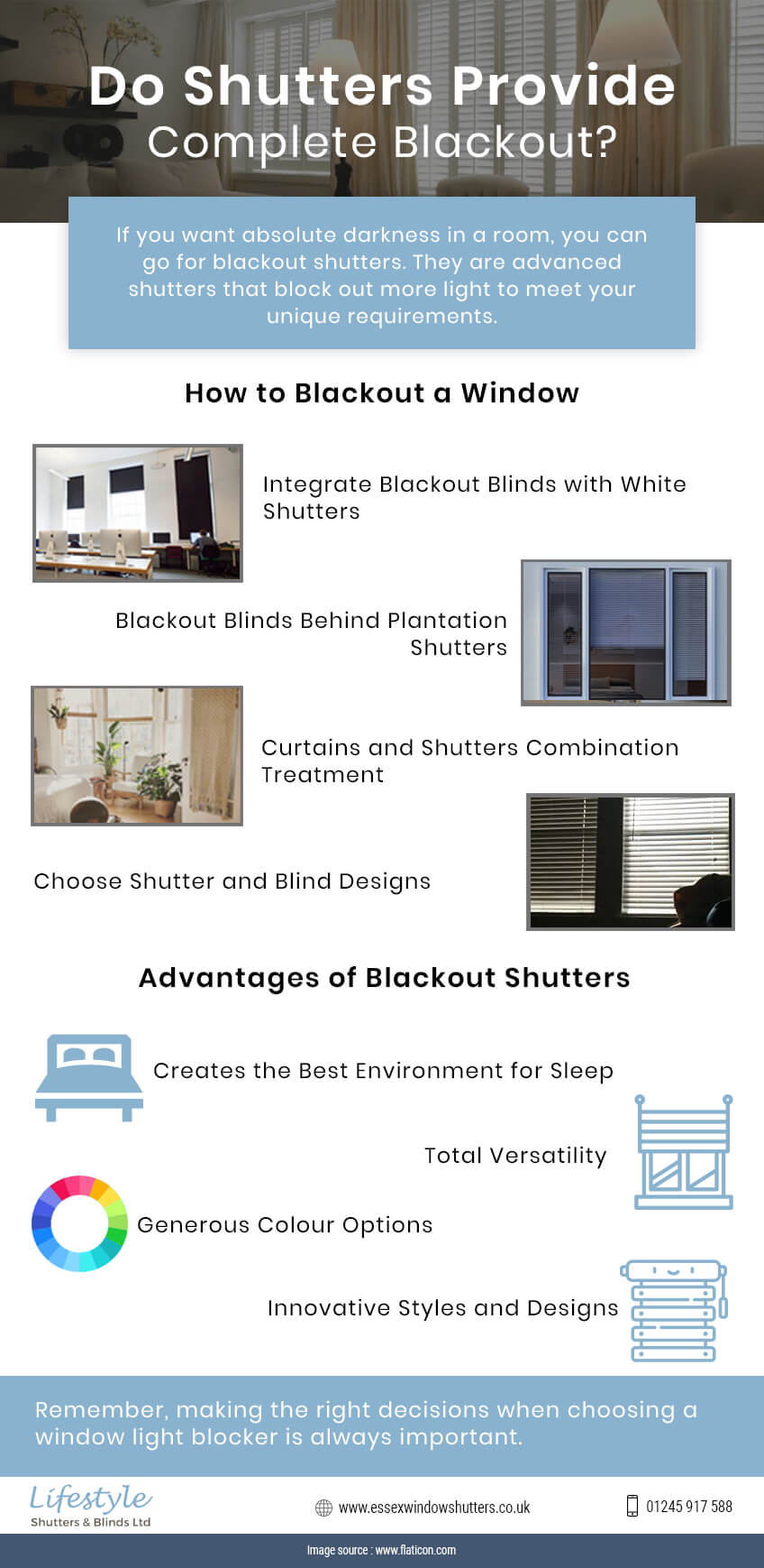 Do Shutters Provide Complete Blackout In A Room