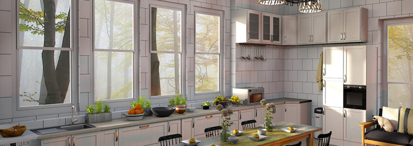 plain kitchen windows